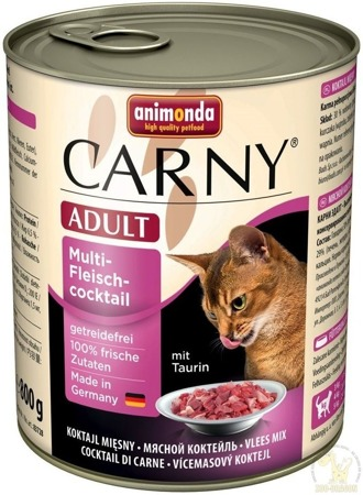 ANIMONDA Cat Carny Adult příchuť: koktejl z několika mas 800 g