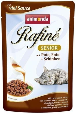 ANIMONDA Cat Rafine Soupe Senior chuť: Krůta a kachna + šunka 100g