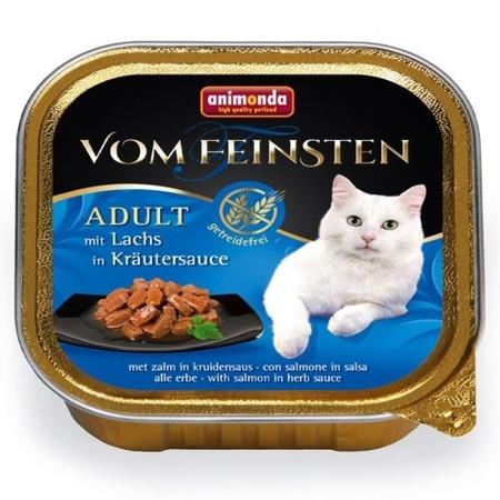 ANIMONDA Cat Vom Feinsten Adult NoGrain Losos v bylinkové omáčce 100g