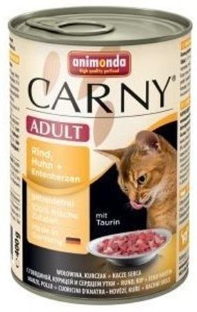 Animonda Cat Carny Adult příchuť: hovězí, kuřecí a kachní srdce 400g