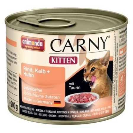 Animonda Cat Carny Kitten telecí & kuře 200g