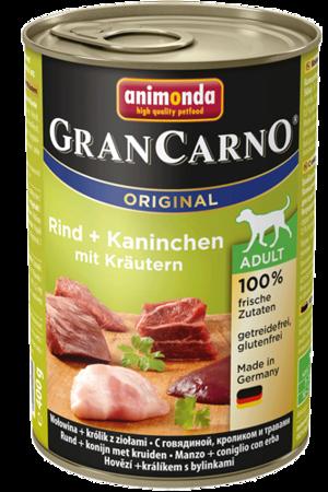 Animonda Dog konzerva Gran Carno Adult Original Hovězí,králík & bylinky 400g