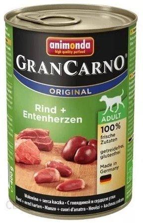 Animonda Dog konzerva Gran Carno Original Adult Hovězí & kachní srdce 400g