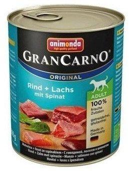 Animonda Gran Carno Adult hovězí & losos & špenát 800 g