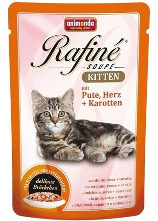 Animonda Rafiné Soupé Kitten kapsička krůtí/srdce/mrkev 100g