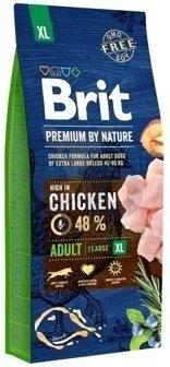 BRIT Premium By Nature Adult XL 15kg + Let's Bite Chicken Fillet 80g ZDARMA!!!!!
