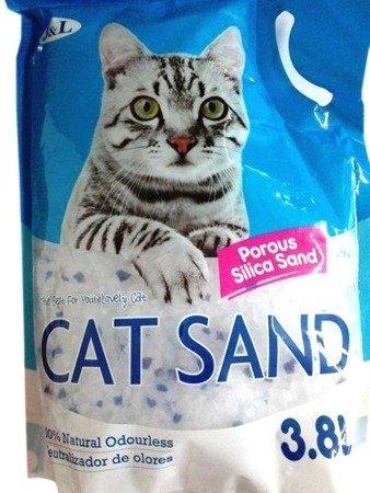 Żwirek Silikonowy CAT SAND 3,8l